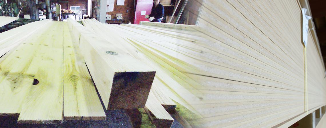 高品質な木材加工。